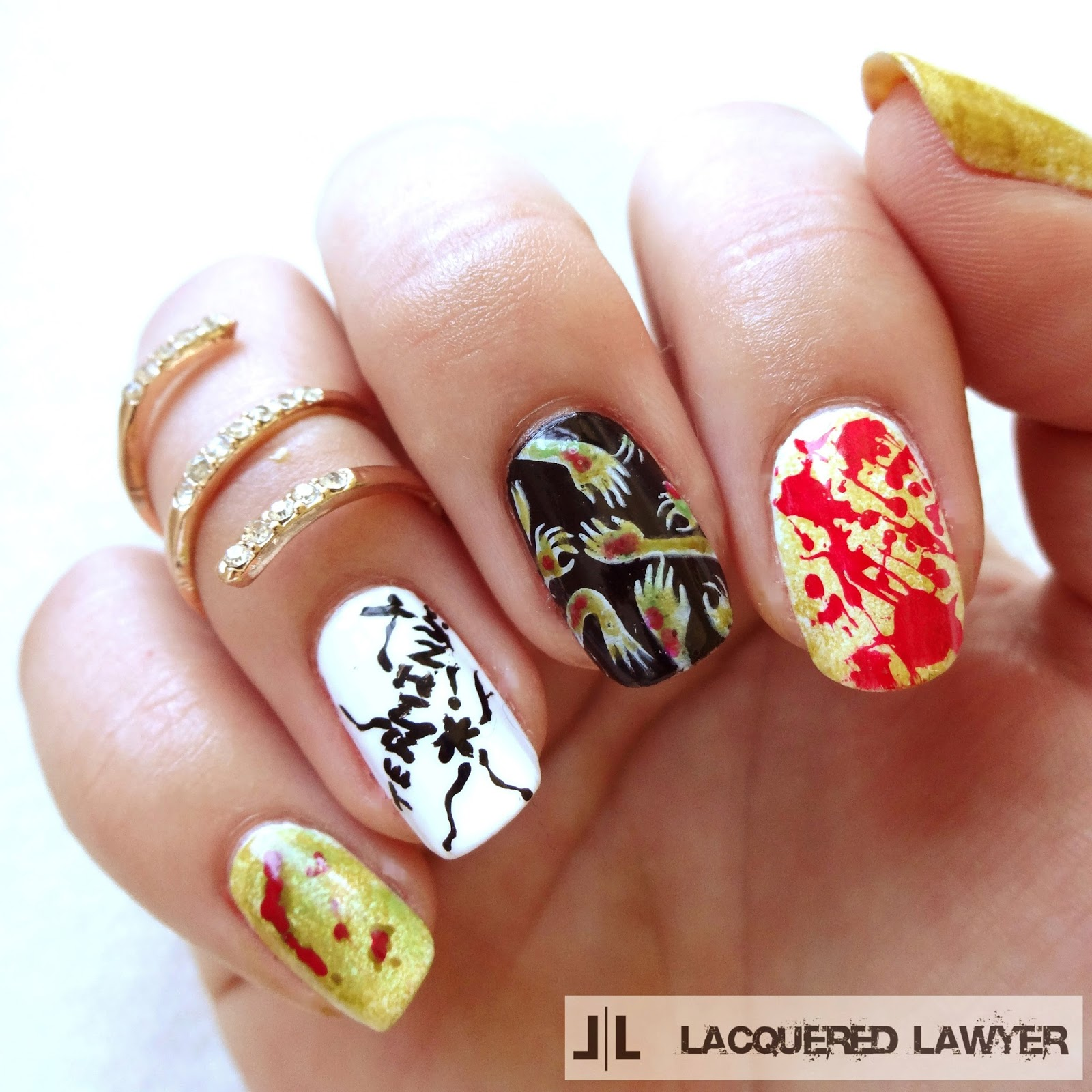 The Walking Dead Nail Art