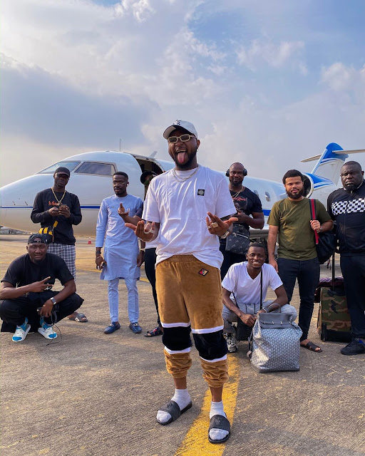 After paying for a new paint job on his private jet, Davido says he's set for his performance this weekend in Enugu Asaba Jos,