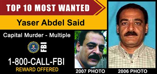 Yaser Abdel Said orang paling di cari fbi