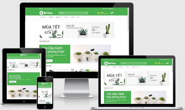 Template blogspot bán hàng dành cho Shop hoa tươi 2019