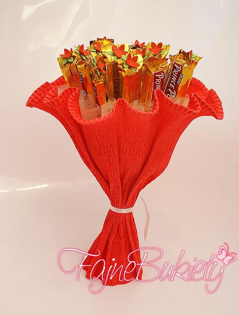 Słodki bukiet z batoników Prince Polo
