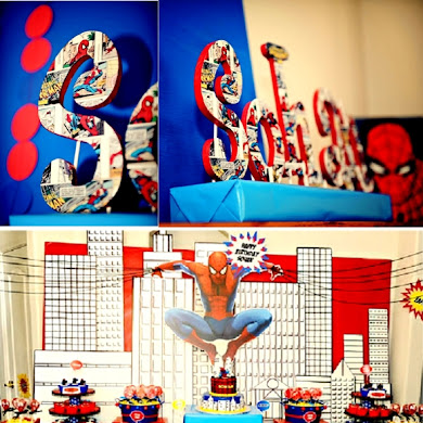 SpiderMan Inspired Party | DIY Comic Book Letters
