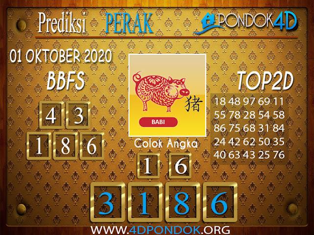 Prediksi Togel PERAK PONDOK4D 01 OKTOBER  2020