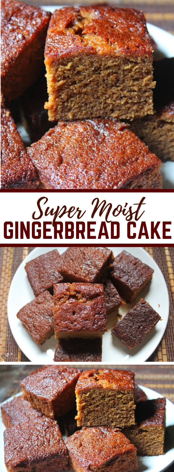SUPER MOIST GINGERBREAD CAKE RECIPE – GINGERBREAD SNACKING CAKE RECIPE #dessert #chocolate