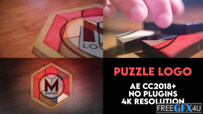 Puzzle Logo Intro After Effects Project