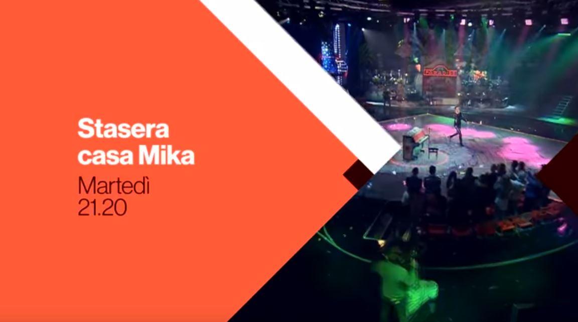 Canzone Stasera Casa Mika pubblicità del programma RAI con Morgan e Bum bum bum