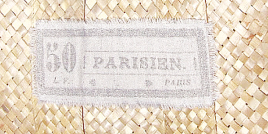 drop cloth label on a basket