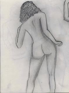 figure study in graphite