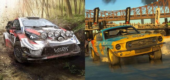 Comparison of WRC 9 vs Dirt 5