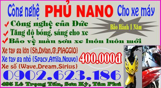 Phủ Nano xe máy giá bao nhiêu?
