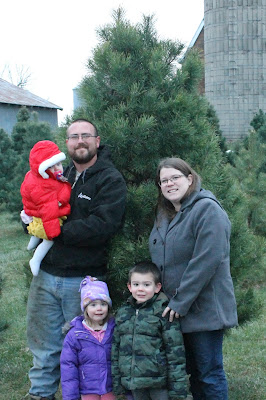 Christmas Tree Picking at Meyer Family Trees outside of Hampton, Iowa