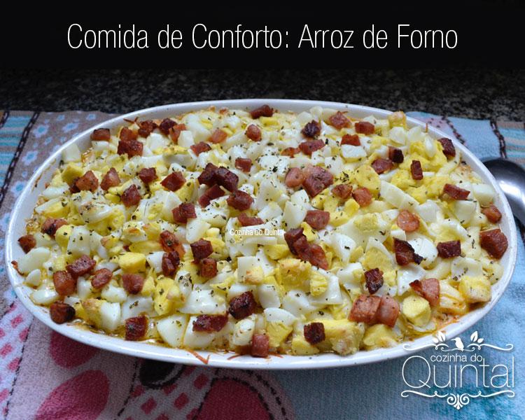 Arroz de Forno é prático e delicioso, na Cozinha do Quintal