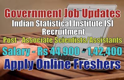 ISI Recruitment 2020