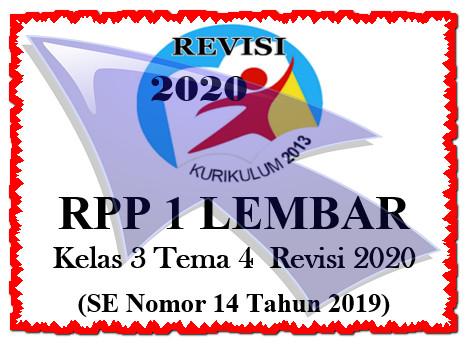 RPP 1 Lembar Kelas 3 Tema 4 K13 Revisi 2020