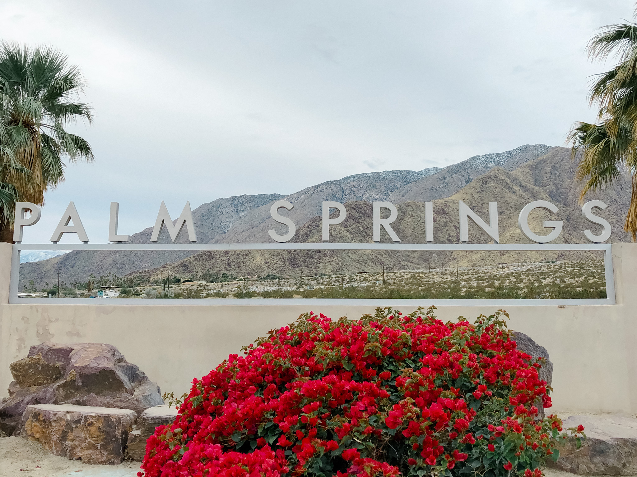 where is the Palm Springs sign located?