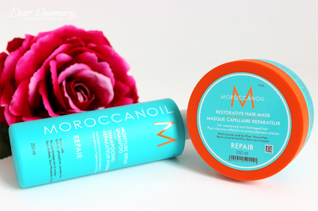 La gamme Moroccanoil Repair pour une chevelure de sirène.