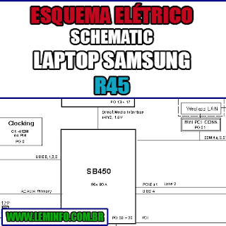 Esquema Elétrico Manual de Serviço Notebook Laptop Placa Mãe Samsung R45 Schematic Service Manual Diagram Laptop Motherboard Samsung R45 Esquematico Manual de Servicio Diagrama Electrico Portátil Placa Madre Samsung R45
