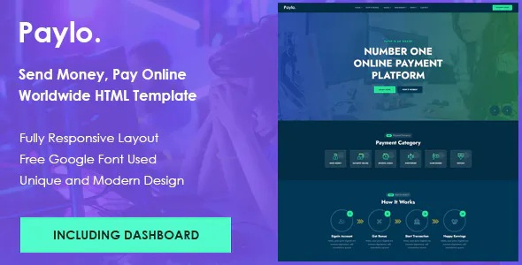 Best Send Money, Receive Online Payment HTML Template
