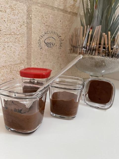 Mousse au chocolat - sans oeuf - aquafaba - IG bas
