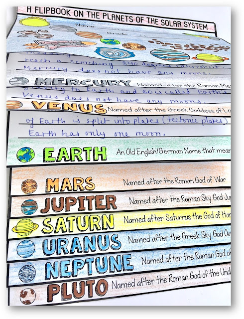 Planets of the Solar System Flipbook