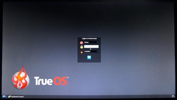 Notes on TrueOS installation P...