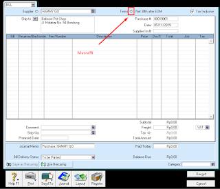 Langkah-Langkah Mengatur Termin pada Myob Accounting