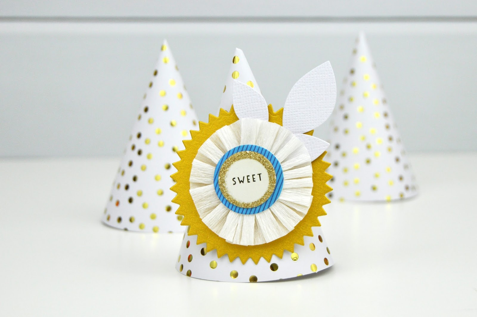 Scrapbook and Cards Today: Mini Birthday Hats Tutorial