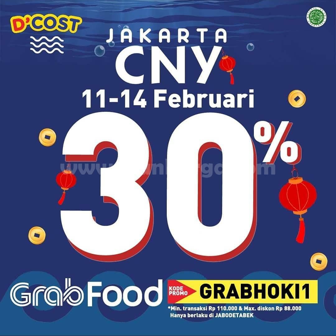 D'Cost Promo CNY GRABFOOD! Diskon hingga 30%