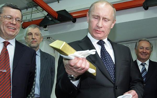 Οικονομικός γίγαντας η Ρωσία – Αύξησε τα αποθέματα χρυσού κατά 6 δισ. δολάρια σε μια βδομάδα