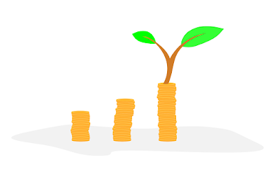 Uang tumbuh dengan investasi