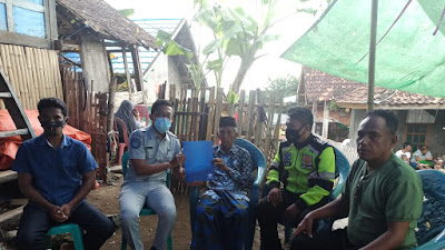 PT. Jasa Raharja Bima Bayar Santunan Korban Laka Lantas di Desa Pesa