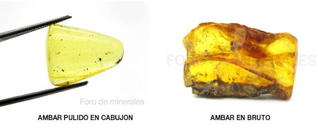 ejemplares de Ambar pulido en cabujon y ambar en bruto Republica dominicana