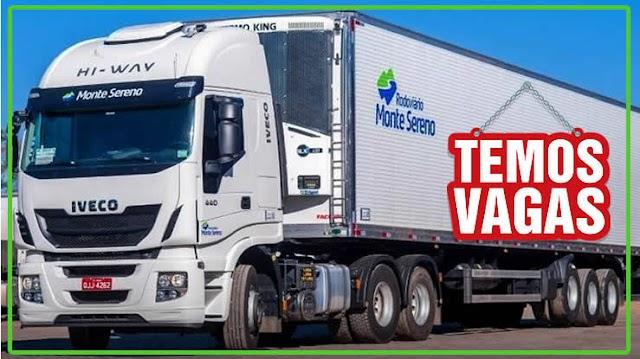 Transportadora Monte Sereno abre vagas para Motorista Truck