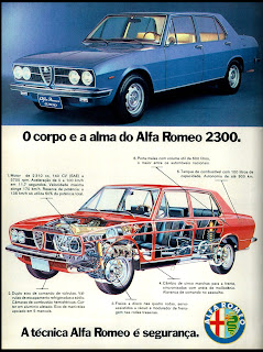 propaganda Alfa Romeo 2300 - 1974. brazilian advertising cars in the 70. os anos 70. história da década de 70; Brazil in the 70s; propaganda carros anos 70; Oswaldo Hernandez;