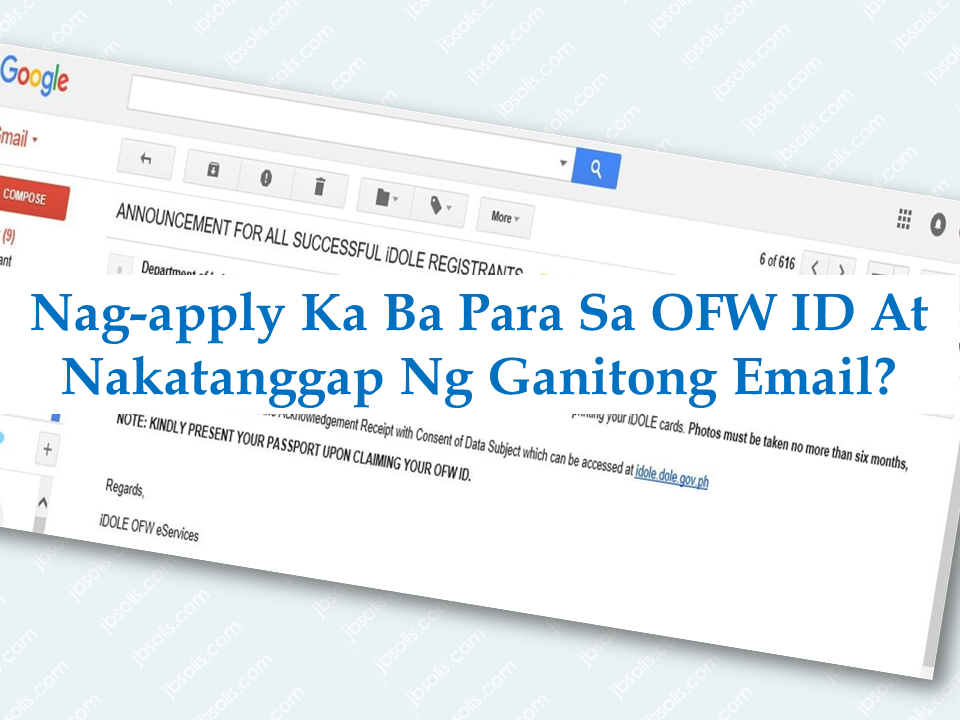 "Acquiring an OEC is a must for all Overseas Filipino Workers (OFW) because you will not be allowed work outside the country without it. Likewise it has always been a burden to OFWs due to the mandatory fees attached to it. The cost of the OEC itself is bearable but the add-ons are what irritates the OFWs the most.    Last year, Labor Secretary Silvestre Bello III announced the birth of the iDOLE or the OFW ID which will also serve as an OEC rendering the old OEC obsolete and he also said that OFWs can have it without any cost.  However, the issuance of the OFW has been delayed several times and the physical ID is still not available until now. A lot of OFWs tried to register and most of them are waiting for their much awaited OFW ID.  Sponsored Links  Most of the OFW who were able to register online received a confirmation email from the agency asking them to submit more requirements such as photos and signature.    Here is what the email looks like:    However, OFWs are skeptical if providing their photos and signature in an online platform would be safe due to the number of cases of identity theft and schemes brought about by hackers.   An OFW expressed his worry about sharing his vital information over the net.    The main concern is the security of the private informations of the OFWs. It is best to gather the digital signature in person rather than sending the information online with the bearers photo attached. It could be a gateway for the hackers to access t it and use it in some forms of fraud or scams.  Another concern is that, not all OFWs are tech savvys and adept in computers and navigating the net although most OFWs have access to the internet, some OFWs don't even know what a digital signature much more sending it to the DOLE site. Doing it personally would be easier for most cases. Say an OFW who already registered for the ID so happened to be on vacation and took time in claiming the iDOLE  card, she can submit the photo and sign it there, wait for a few minutes and go home with the ID just like what the other government offices are currently doing i.e. Pag-IBIG membership ID.  These concerns has to be addressed by the proponents of the OFW if they are really concerned about lifting the burdens from the modern day heroes.   Advertisement  For those who are not yet aware on how to apply for the OFW ID, watch this video:      Read More:  OFW Awarded As The Best Nanny in UAE, Gets P1 Million We often hear bad news about Filipina household workers being abused and maltreated especially in the Middle East. We can read it on social media and mainstream media as well— OFWs crying and pleading for help to those who can possibly render it.  Today we will read a different story. A nanny who's hardwork and sacrifice has been recognized and it also comes with P1 million pesos cash reward which UAE's ""Best Nanny"" awardee consider as God's reward for all her sacrifices she had been dealing for years.   Melanie Manansala, 44, bagged the award on November 25 at aan event organized Rise, a wealth management platform for migrants in its aim to recognize all the hardworking nannies in the UAE.   Melanie started to work in the UAE when she was 19 and she has been working in the country for 24 years. Being the eldest of five children, her burden to send her younger siblings became her motivation to work abroad at a young age.    Sponsored Links  ""I used to cry a lot at first. But then I would just pray and ask God to help me and guide me through life,"" Melanie said  She is currently working with her fourth employer, a family of four from The Netherlands, whom consider her as a part of the family, giving encouragements to her in pursuing her dreams and do better in life. Jelle Leeksma, her employer, as a witness to her ""positivity towards work"", nominated her for the award.  ""We can always count on her. She always goes an extra mile with work and she has initiative... She's a really loving and caring nanny. We wouldn't trust anybody with our children more than her. She is the perfect the nanny,"" her employer said.  The recognition, however, granted Manansala a starter retirement fund of one million pesos (around Dh73,000) and a ticket to the Philippines from Air Arabia, a bank account, Rise child care courses among others.   Source: Gulf News Society       Advertisement  Read More:               ©2017 THOUGHTSKOTO  Jobs Abroad Bound For Korea For As Much As P60k Salary According to the yearly quota that South Korea is giving to the countries sending workers to them, , said that they will be needing thousands of Filipinos to work in factories.  For the Philippines, South Korea demands five thousand workers and up depending on how much they really need. They are set to be working in electronics, textile, chemical and food factories, POEA Deputy Administrator Jocelyn Sanchez said.   Their basic pay as factory workers is expected at around $1,200 or P60,000 per month.   To be able to apply, they need to do the following:   —The applicants need to register at the POEA website first.  Only those who are registered will be given the schedule for the Korean language examination.  — After passing the Korean language exam, they will undergo a skill test.  —If they pass the skills test, medical examination will follow.  — after the medical exam and the applicant is found to be physically fit to work, their profiles will be then forwarded to the employer for final selection.  Sponsored Links    POEA said that work experience will be an advantage but inexperienced applicants will be selected provided they will pass the Korean language test.      POEA also warned the people about private groups who offer seminars or trainings that uses the broadcast media interview of the agency to lure applicants. All the job openings must be consulted with POEA to know the correct process in applying for any jobs. POEA also said that there will be no private recruitment agencies permitted to hire applicants for South Korea jobs. Job hiring to the country is based on government to government agreement. All applications and orientation has to go through POEA only and aside from processing fee, the applicants will not be charged for  a placement fee. For the complete list of qualification and requirements click here. Source: ABS-CBN, POEA   Advertisement  Read More:            ©2017 THOUGHTSKOTO CLICK TO SUBSCRIBE TO OUR YOUTUBE CHANNEL for MORE VIDEOS ABOUT SMALL HOUSE AND HOUSE DESIGN and OFW INFOs"