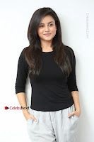 Telugu Actress Mishti Chakraborty Latest Pos in Black Top at Smile Pictures Production No 1 Movie Opening  0074.JPG