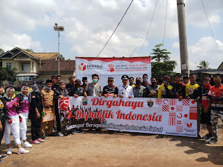 Foto bersama Panwaslucam Tanjung Bintang dan Gokil (Foto. Agus Ryan)