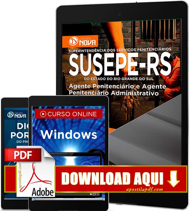 Apostila SUSEPE 2017 PDF Download Agente Penitenciário