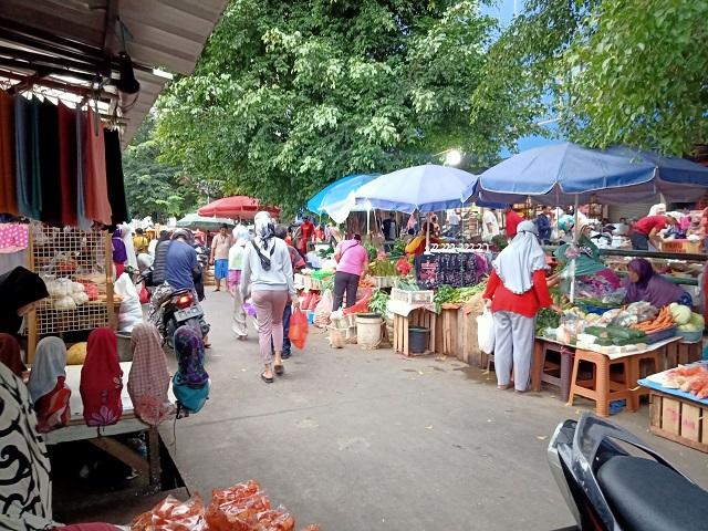 Pasar Prumnas Klender Saat Ramadan dan wabah Corona
