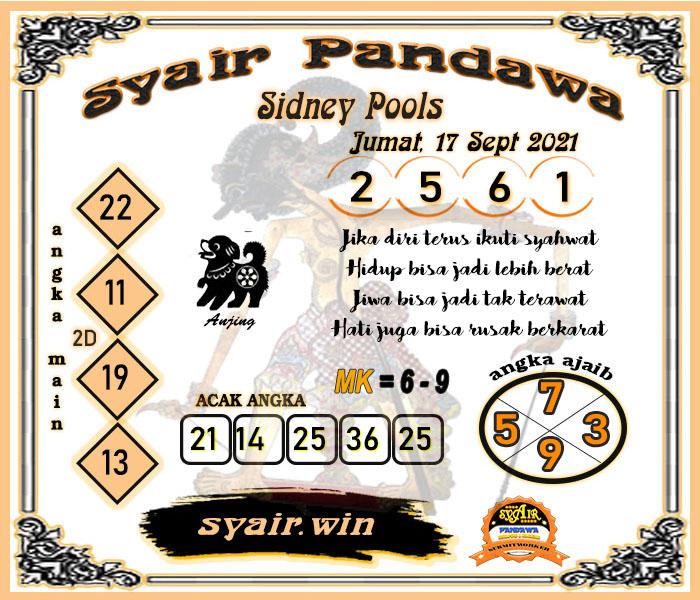 Syair Pandawa SDY Jumat 17 September 2021