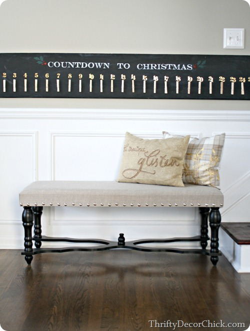 DIY Pottery Barn Christmas advent knock off
