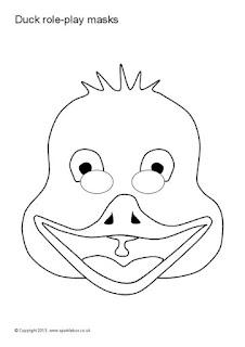 Máscara de pato para colorear