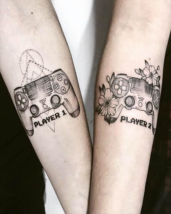 tatuaje de controles de play station