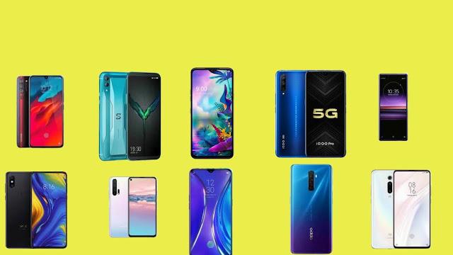 The 10 Golden Smartphones in 2019.