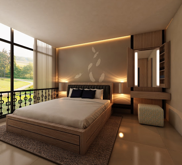 Kamar modern tapi bernuansa nature