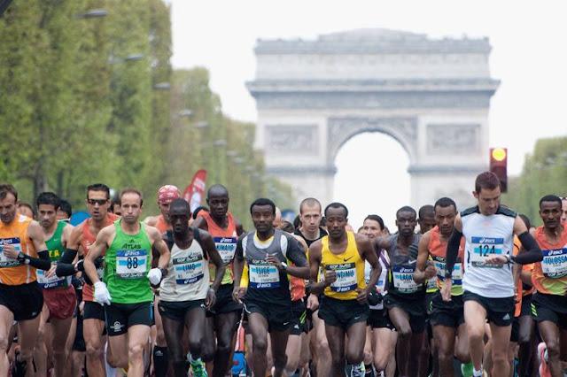 Calendários de corridas e maratonas em Paris em 2016