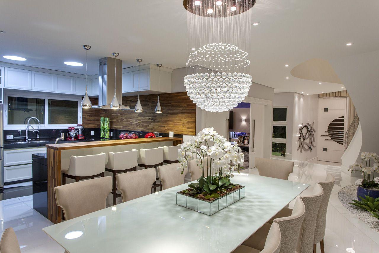 Cozinha Gourmet Integrada Com Sala De Jantar U Otimize Espaos Que