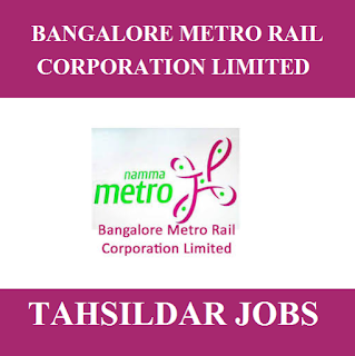Bangalore Metro Rail Corporation Limited, BMRCL, Karnataka, Tahildar, Graduation, Metro Rail, freejobalert, Sarkari Naukri, Latest Jobs, bmrc logo