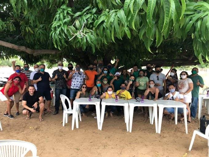 Grupo político da prefeita Sandra se reuniu com pré-candidatos seguindo todas as recomendações sanitárias