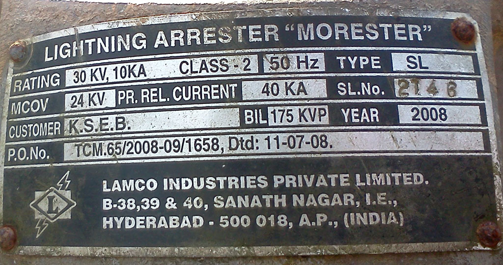 Electrical Engineering From Field: Name Plate Examples